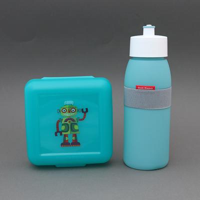 Lot gourde eucalyptus + boite à déjeuner sans BPA Robot