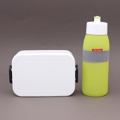 Lot boite déjeuner blanche et gourde Citron vert sans BPA Rosti Mepal