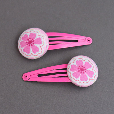 Duo de barrettes enfants Liberty Toria rose