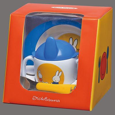Coffret cuillère, bol et tasse d'apprentissage pour bébé Miffy bleu