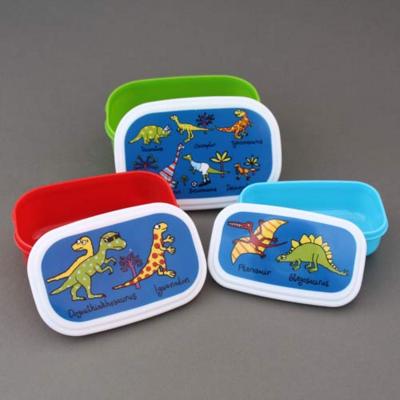 Lot 3 boites à goûter ou déjeuner enfants sans BPA Dinosaures Tyrrell Katz