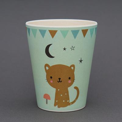 Verre en bambou Petit chat