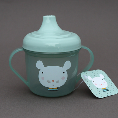 Tasse d'apprentissage sans BPA pour bébé Souris verte