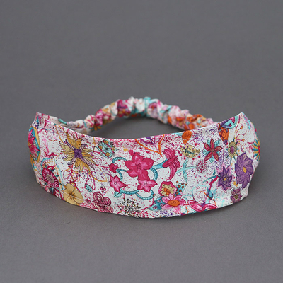 Bandeau cheveux enfant en Liberty Macleod rose