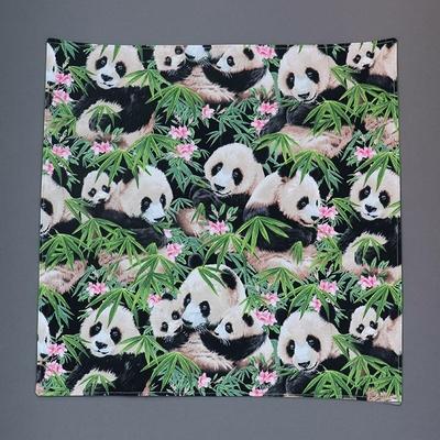 Grande serviette de table enfant Les pandas