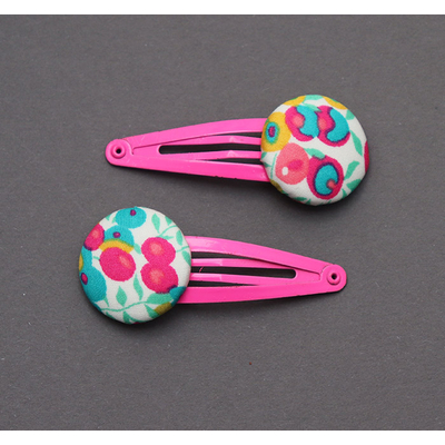 Duo de barrettes enfant en Liberty Wiltshire tropical