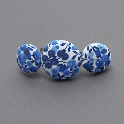 Grande barrette femme Liberty Wiltshire bleu