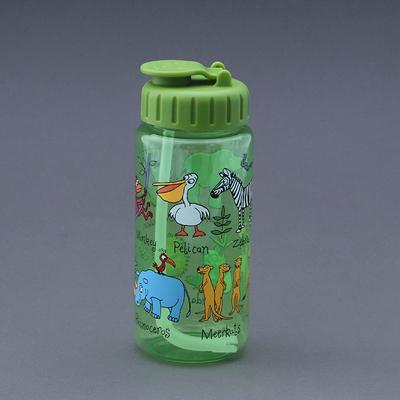 Gourde avec paille sans BPA  pour enfant Animaux de la jungle