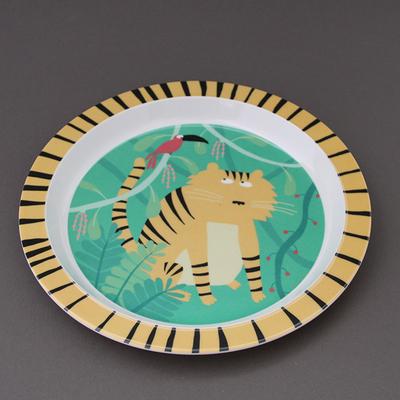 Assiette creuse pour enfant Le tigre et son copain oiseau