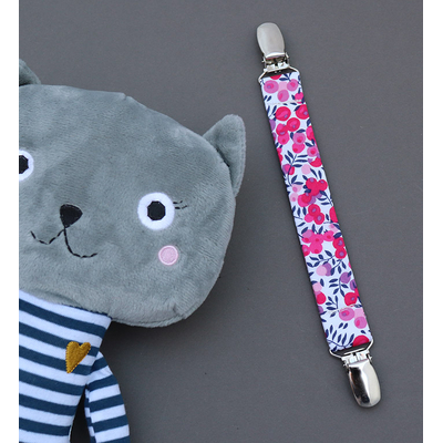 Attache doudou Liberty Wiltshire rose