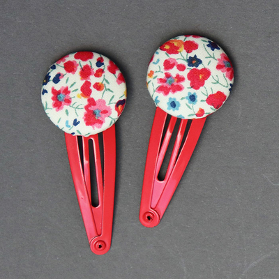 Duo de barrettes enfant en Liberty Phoebe grenadine