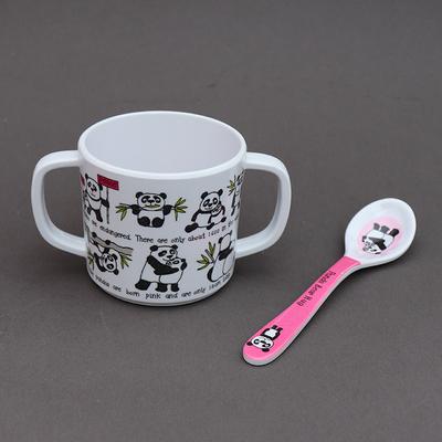 Duo pour bébé tasse et cuillère enfant Pandas