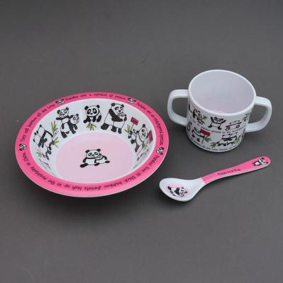 Trio pour bébé bol, tasse et cuillère Pandas