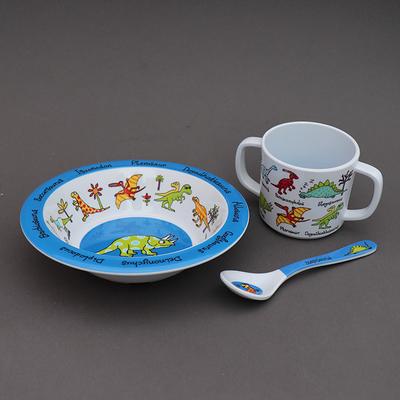 Trio pour bébé bol, tasse et cuillère Dinosaures