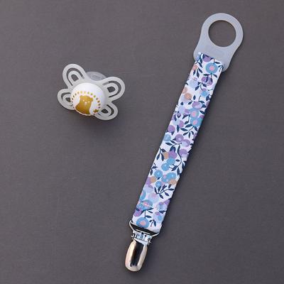 Attache tétine / sucette sans anneau Liberty Wiltshire lilas