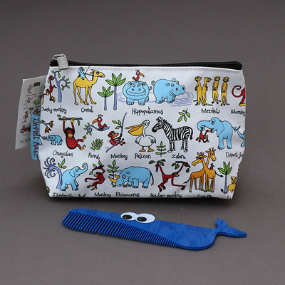Trousse de toilette enfant Animaux de la jungle