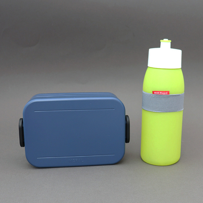 Lot boite déjeuner denim et gourde Citron vert sans BPA Rosti Mepal