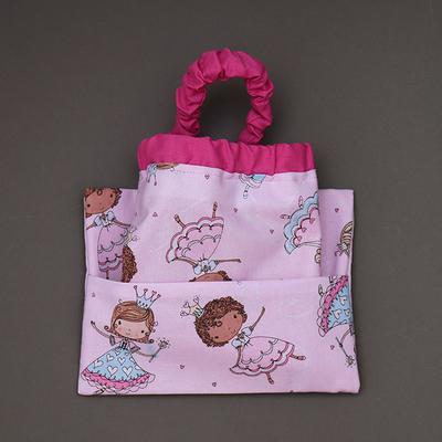 Serviette de cantine enfant cou élastique et pochette assortie Princesses