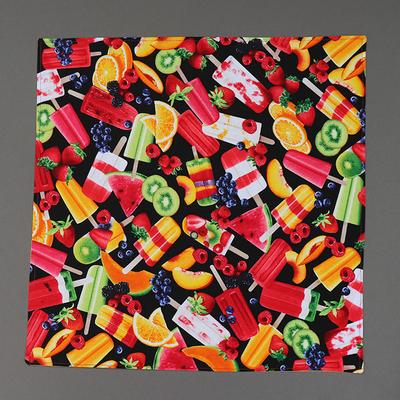 Grande serviette de table enfant Glaces aux fruits