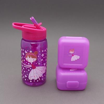 Lot deux boîtes et gourde sans BPA Les fées danseuses