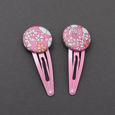 Duo de barrettes enfant en Liberty June's meadow rose