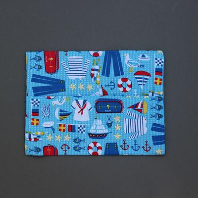 Pochette pour serviette enfant Marin