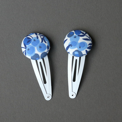 Duo de barrettes enfants en Liberty Wiltshire bleu