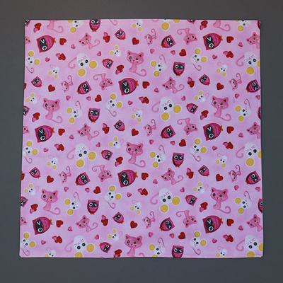 Grande serviette de table enfant Chat et souris