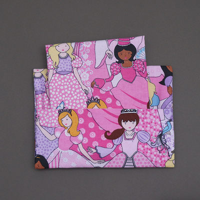 Serviette de table enfant Princesses et pochette assortie