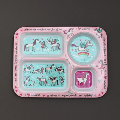 Assiette compartiment enfant Licornes