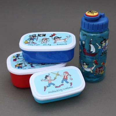 Lot 3 boîtes à gouter plus gourde sans BPA Les pirates