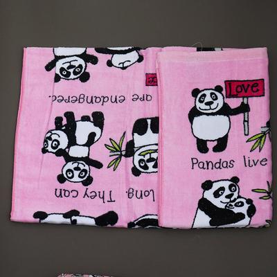 Serviette de bain pour enfant Pandas