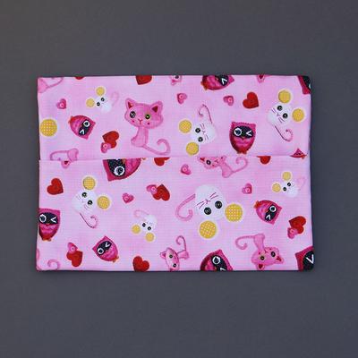 Pochette pour serviette de table enfant Chat et souris