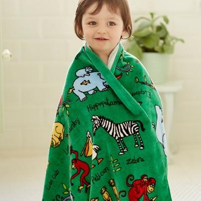 Serviette de bain pour enfant Animaux de la jungle