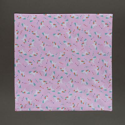 Grande serviette de table enfant Petites licornes