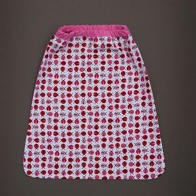 Serviette de table enfants élastique Coccinelles roses