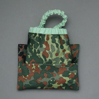 Serviette de cantine enfant élastique et sa pochette assortie Camouflage
