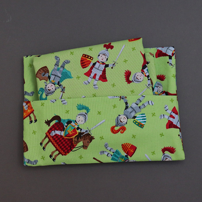Serviette de table et pochette assortie Chevaliers