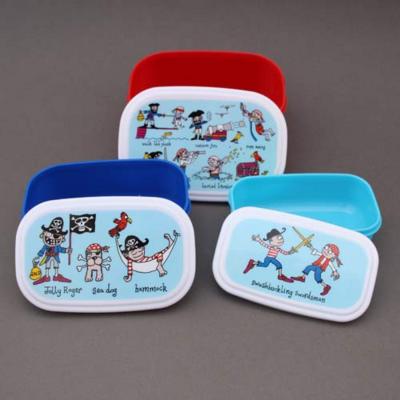 Lot 3 boites à goûter ou déjeuner enfants sans BPA Pirates Tyrrell Katz