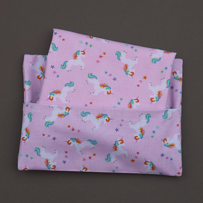 Serviette de table et pochette assortie Petites licornes