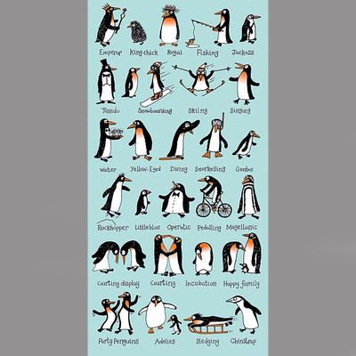 Serviette de bain ou de plage pour enfant Pingouins