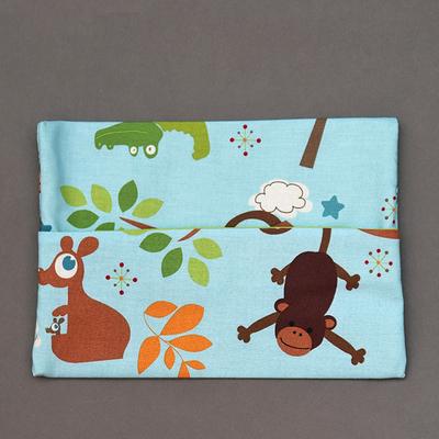 Pochette pour serviette enfant Singe et kangourou