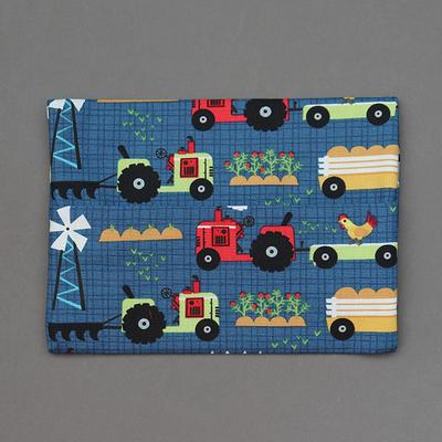Pochette pour serviette enfant Les tracteurs