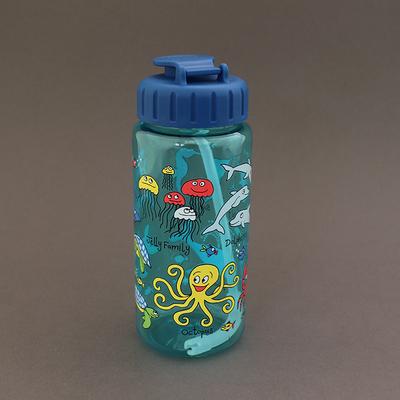 Gourde avec paille sans BPA pour enfant Océan