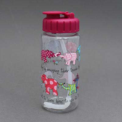 Gourde avec paille sans BPA pour enfant Elephants