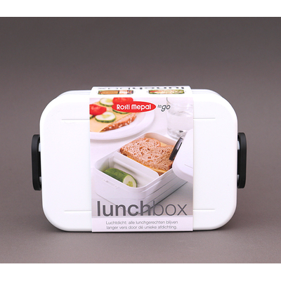 Boite à déjeuner sans BPA Blanche