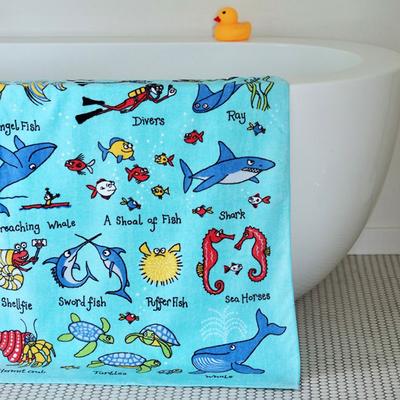 Serviette de bain pour enfant Océan