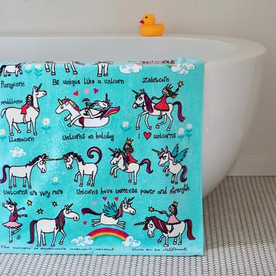 Serviette de bain ou de plage pour enfant Licorne