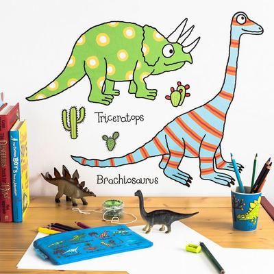 Autocollants muraux pour chambres d'enfants Dinosaures