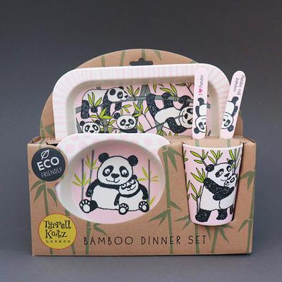 Lot vaisselle en bambou pour enfant Panda